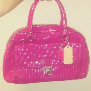 Authentic Coach bag bright Pink. Like New